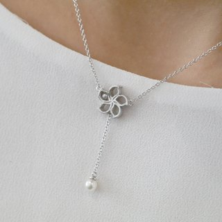 925 SILVER BAUHINIA NECKLACE