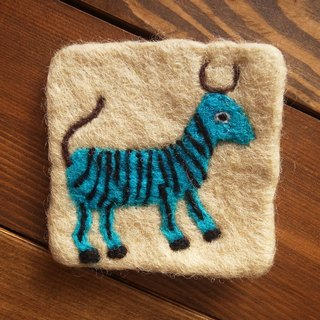 【Grooving the beats】Cup coasters, Felt coasters(Animal_Goat)
