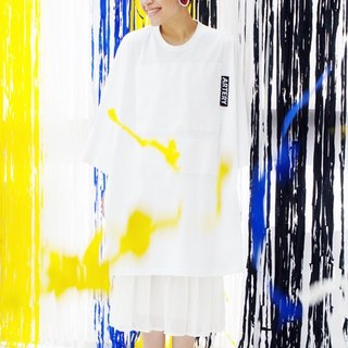 ARTERY OVERSIZED T-SHIRT 白底拼貼白色塊