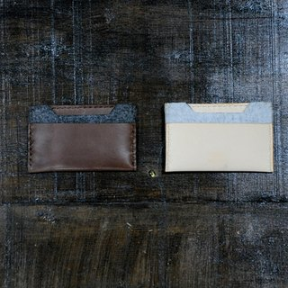 2in1 two-in-one series of hand-stitched leather card sets (free lettering)