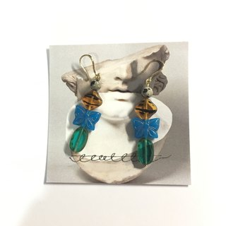 Sorcerer Blue Butterfly Earrings