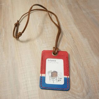 Sienna leather luggage ticket clip documents