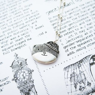 Hats Bear Silver Necklace