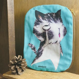 emmaAparty illustration bag - grimace cat