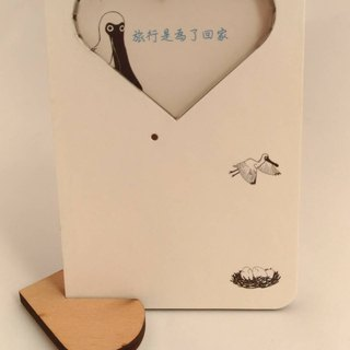 Black-faced Spoonbill blank 30 seconds recording and playback hand-painted card photo frame can put photos