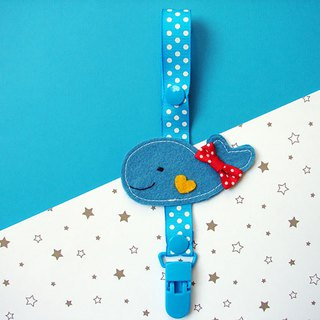 Cheerful baby pacifier chain nipple clip anti-drop chain can be changed into vanilla pacifier using whale
