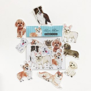 Puppy Series Sticker-Laptop Sticker,Watercolor,illustrations,Dog lover gifts,Sticker,Corgi,Bulldog,cute,Handmade Sticker