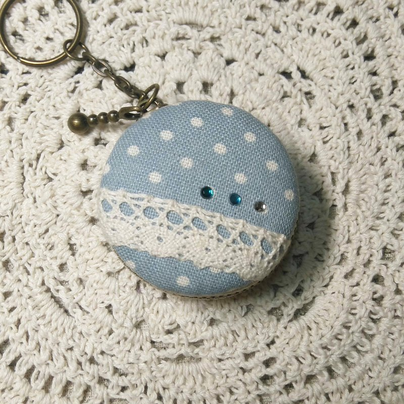Chomii. Macaron CHARM zipper coin purse jewelry box blue Shuiyu