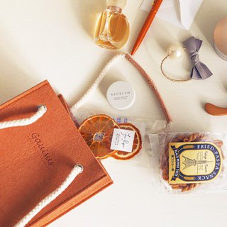 Leyang·Gauisus - Picnic Small Party Bag (Hand To Shoulder) - Pink Tangerine