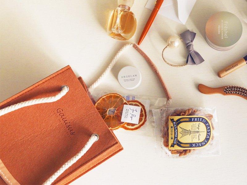 樂洋・Leyan-野餐小方包(可手提也可肩背)-粉粉橘