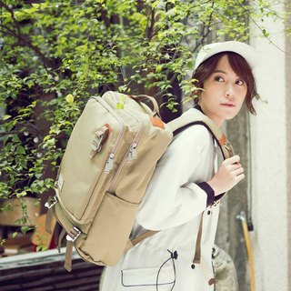 Doughnut Waterproof Pen Electric Toast Backpack - Caramel Oats
