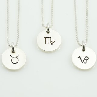Constellation small tag necklace - earth sign (one)
