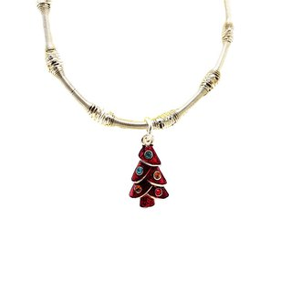 Red Pine Tree Silver Beads Bracelets - Party Queen - Free New Year Gift Wrap