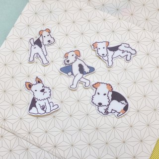 Waterproof Stickers | Terriers Fox Terriers