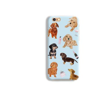 Dachshund dog Matt hard Phone Case iPhone X 8+ 7 6 S8 plus Samsung S8 S7 LG Sony