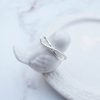 Big staff Taipa [handmade silver] twist double double ring × sterling silver ring