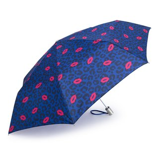 Ultra Lightweight Auto Open Close Umbrella - Leopard & Lips