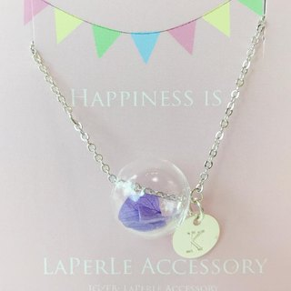 LaPerle bubble glass beads purple amaranth pollen preserved flower personalized custom alphabet medallion married sisters wedding gift bead bracelets Bracelet original geometry handmade wedding bridesmaid bridal shower geometric Bracelet glass Handmade