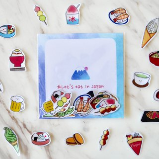Japanese food map / transparent hand sticker