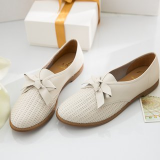 Molly-rice-handmade leather casual shoes-small white shoes