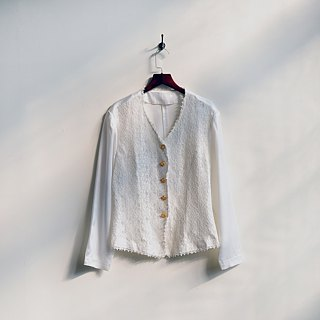 [Egg Plant Vintage] Lace Dream Net Satin Ancient Shirt