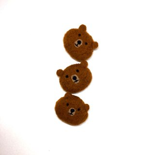 Wool felt handmade bear pin