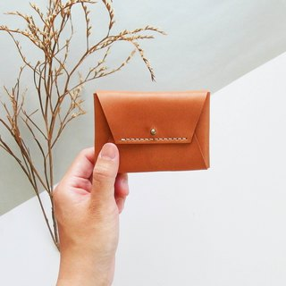 Classic Envelope Card Purse - Light Brown - Leather / Coin Purse / Fashion / Hand-Made / Practical / Color / Business Card