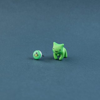 Oogie Boogi Cat - Polymer Clay Earrings, Handmade&Handpaited Catlover Gift