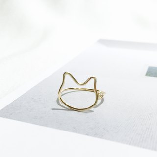 MEOW。Ring。Kitten。CAT。14Kgold。
