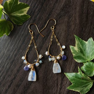 Handmade earrings arctic blue ice