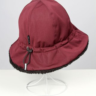 Waterproof storage fluffy fisherman hat - Burgundy