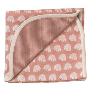 100% Organic Cotton Pink Polar Bear Baby Towel Made in England