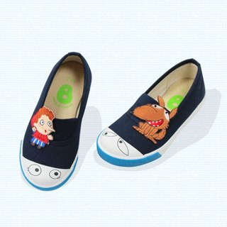 Classic simple slip-on with eyes for toddlers color Deep blue
