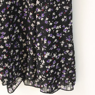 Vintage Dark Romance Purple Floral Floral Black Sleeveless Vintage Dress Vintage Dress