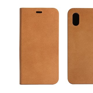 BEFINE iPhone X TASCA Premiun leather side lift case - light brown (8809402594337)