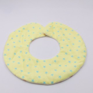 Yellow bottom star round bib double yarn saliva towel Mi Yueli