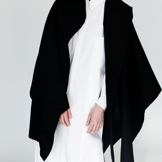 Origami Wool Cape <Handmade in Italy>