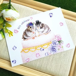 Postcards - mice and wedding cake