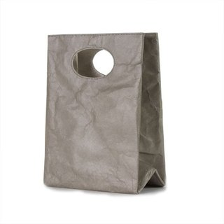 [Tyvek 100% fiber paper] waterproof graffiti dual-use bags - silver-gray