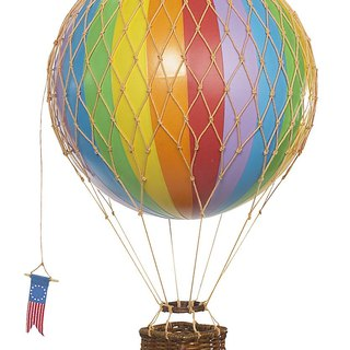 Authentic Models Hot Air Balloon Ornament (Little Adventure / Rainbow)