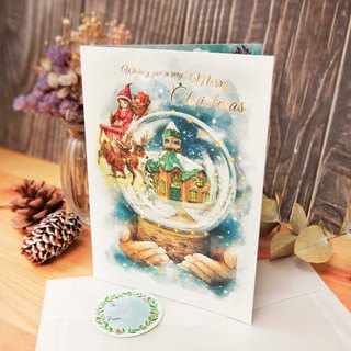 Christmas snowball card