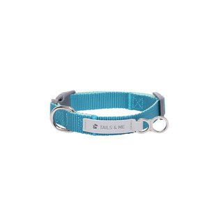[Tail and me] classic nylon belt collar mint / water blue M