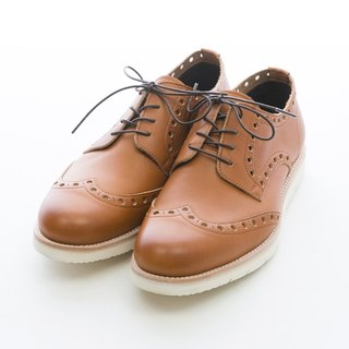 ARGIS ultra lightweight carved low tube casual shoes #31117咖啡-Japan handmade