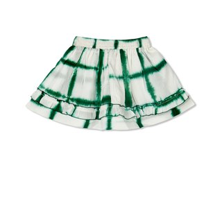 CHANDAMAMA Advika White w/emarland Green Skirt