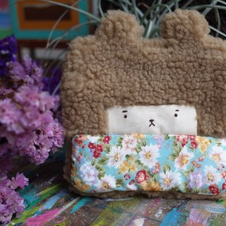 Duo rabbit buns wallet - coffee hair -167 blue sky small daisies