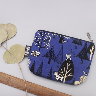 Ping Le Small Pack - cat playing in the bushes, double-sided double-colored touch wallet