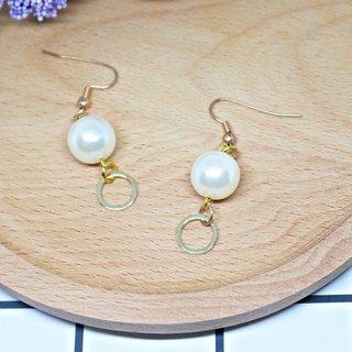 Alloy * round circle * _ hook earrings