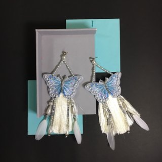 earrings : butterfly no.2 sky