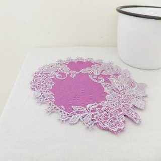 Four seasons' embroidered coasters:Summer----Lotus