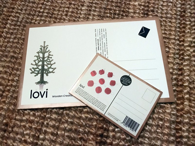 [Finnish] LOVI 3D 3D Puzzle Birch Postcard Decoration Gift - Christmas Tree/Enthusiasm Group